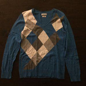 Van Heusen Women's Diamond Argyle Sweater Blue